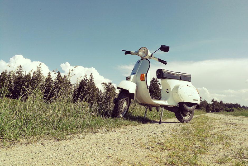 Scooter loué dans l'arrière-pays niçois
