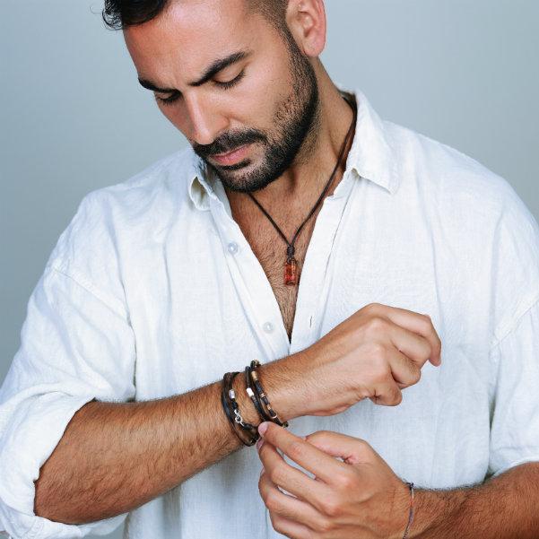 bracelet pierre homme