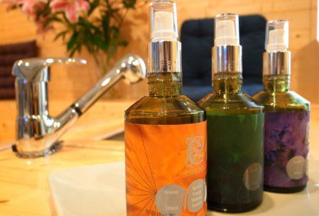 flacons produits d'huiles végétales